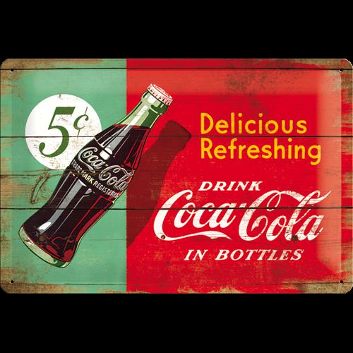 Coca cola skylt
