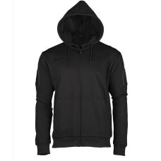 Svart Zip hoodie
